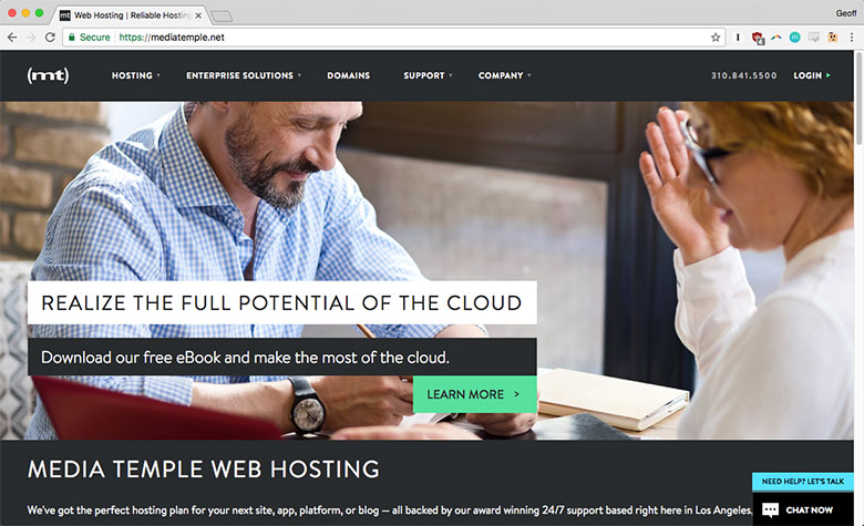 Media Temple provides premium shared, dedicated, cloud, VPS, and managed WordPress hosting.
