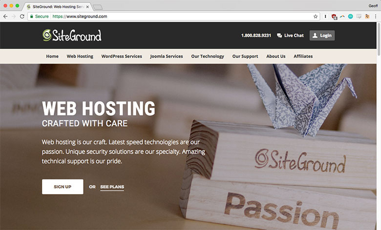 SiteGround offers a variety of web hosting options, including shared hosting, dedicated and cloud hosting plans.